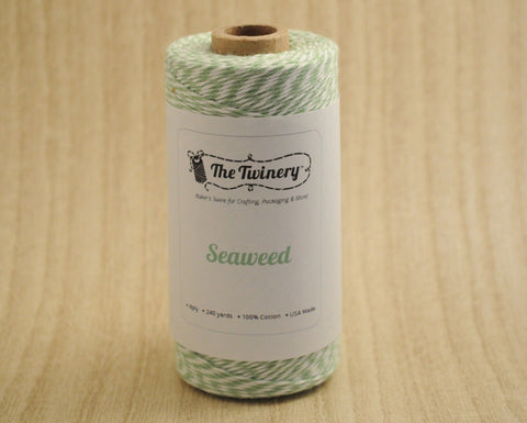 Seaweed- Mint Green & White Eco-Luxe Baker's Twine