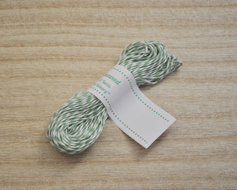Seaweed- Mint Green & White Eco-Luxe Baker's Twine Sampler
