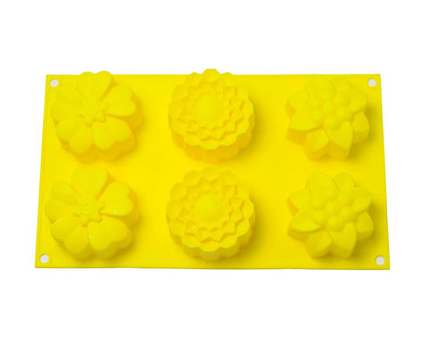 Small Flower Daisy Baking Pan- 6 Cakelets