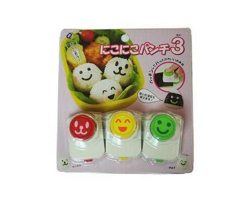 Bento Seaweed Nori Punch Cutter Set- Smiling Faces Collection