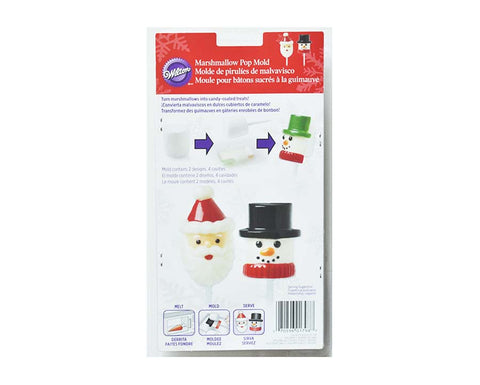 Snowman & Santa Christmas Themed Marshmallow Mold- By Wilton