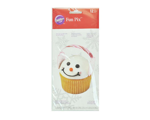Snowman Earmuffs Cupcake Pick– By Wilton