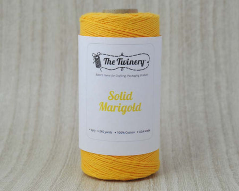 Solid Marigold- Yellow Baker's Twine by The Twinery