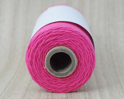 Solid Pink Sorbet- Dark Pink Baker's Twine by The Twinery