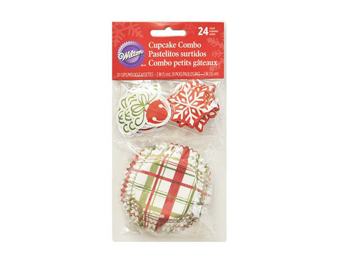 Sweets & Treats Cupcake Liners with Cake Toppers Combo Kit By Wilton, 24-Count