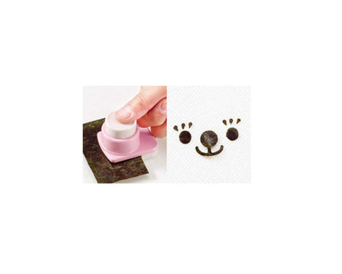 Bento Seaweed Nori Punch Cutter Set- Teddy Bear Faces Collection