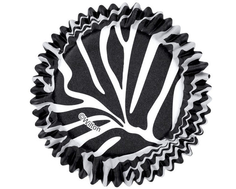 Foil Baking Cups and Cupcake Liners- Zebra Stripes by Wilton