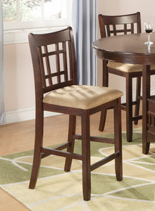 Lavon 5 Piece Counter Height Dining Set in Warm Brown