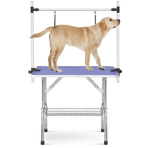 "Large Size 46"" Grooming Table for Pet Dog and Cat with Adjustable Arm and Clamps Large Heavy Duty Animal grooming table"