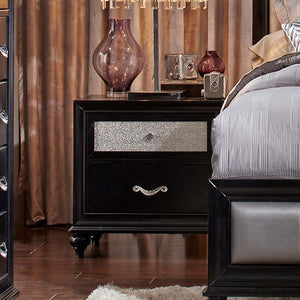 Barzini Panel Bedroom Set (Black)