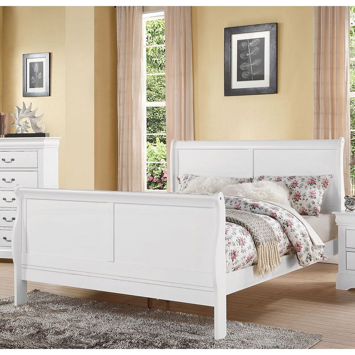 Louis Philippe III Queen Bed in White
