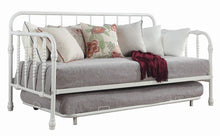 Load image into Gallery viewer, Traditional White Metal Daybed