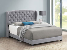 Load image into Gallery viewer, Krome Upholstered Bed (Grey)