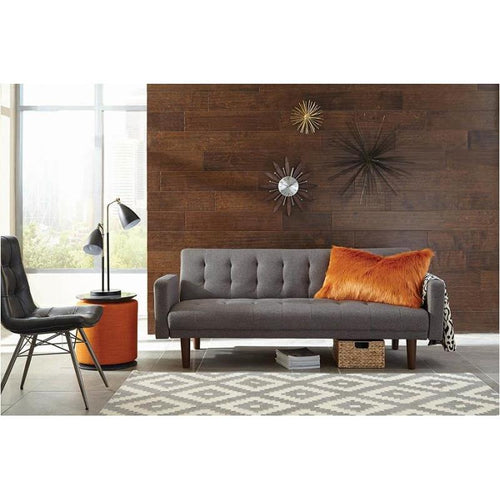 Skyler Grey Woven fabric Sofa Bed With Tufted Back