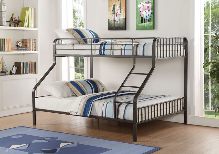 Caius Twin XL/Queen Bunk Bed (Grey)