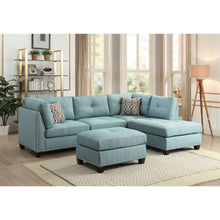 Load image into Gallery viewer, Laurissa Sectional Sofa and Ottoman In Light Teal Linen