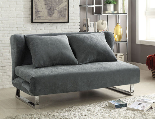 Vera Transitional Velvet Sofa Bed