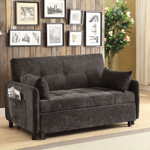 Underwood Dark Brown Twill Fabric Sofa Bed