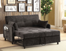 Load image into Gallery viewer, Underwood Dark Brown Twill Fabric Sofa Bed