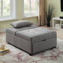 Load image into Gallery viewer, Oona Futon Bed Ottoman (Gray)