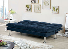 Load image into Gallery viewer, Saratoga Navy Blue Futon Sofa Bed