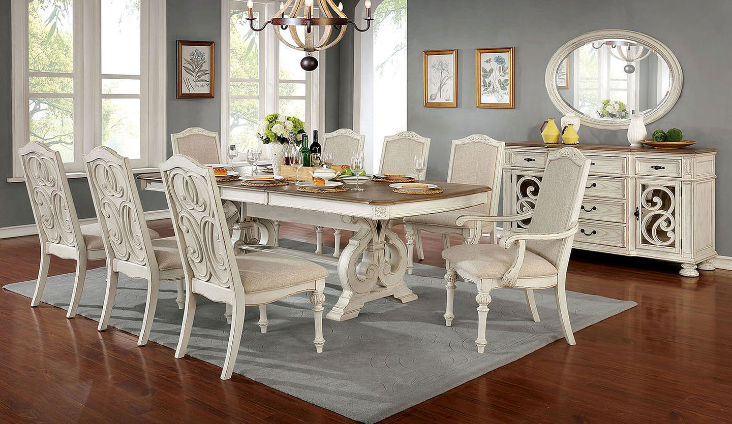 Arcadia Antique White Dining Collection
