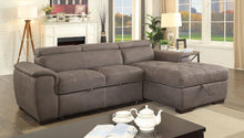 Load image into Gallery viewer, Patty Sectional w/ Pull Out Sleeper (Ash Brown)