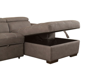 Patty Sectional w/ Pull Out Sleeper (Ash Brown)