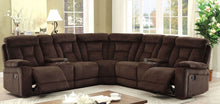 Load image into Gallery viewer, Maybell Sectional with 2 Consoles In Brown