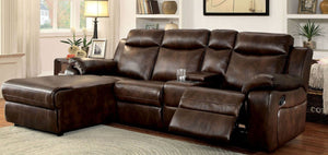 Hardy Sectional With Storage (Brown)
