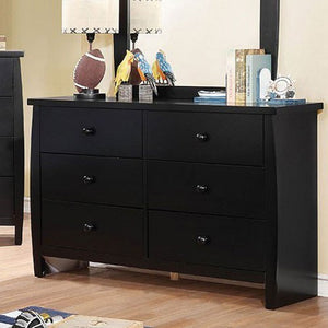 Marlee Youth Bookcase Bedroom Set (Black)