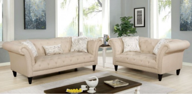 Louella Living Room Collection (Beige)