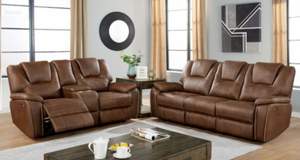 Ffion Living Room Collection (Brown)