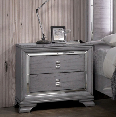 Alanis Contemporary Grey Nightstand