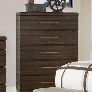 Maggie Transitional Walnut Chest