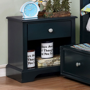 Diane Transitional Blue Nightstand