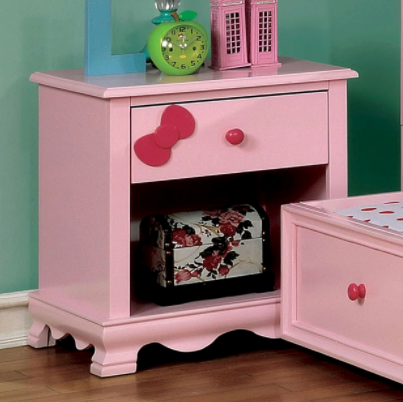 Dani Transitional Pink Nightstand