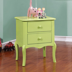 Lexie Traditional Green Nightstand