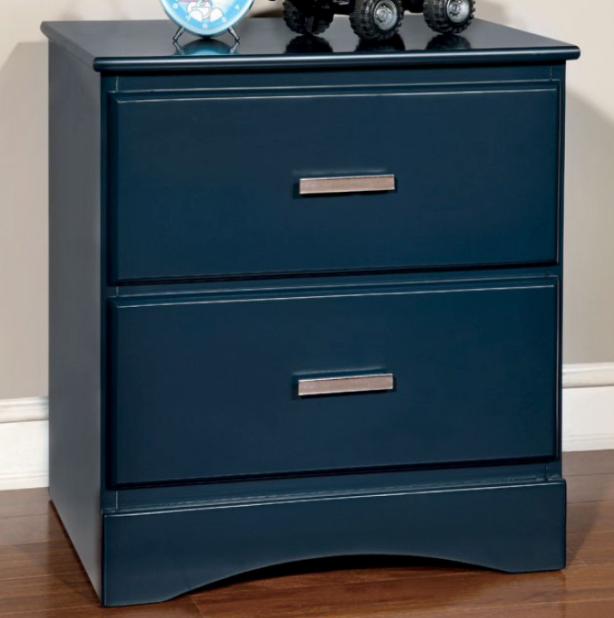 Prismo Transitional Nightstand (Blue)