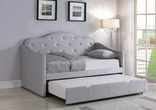 Load image into Gallery viewer, Pearlescent Grey Upholstered Daybed