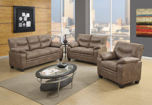 Meagan Casual Brown Sofa and Loveseat