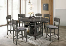 Load image into Gallery viewer, Stacie Counter HT. 5 or 7 Piece Dining Set in Grey