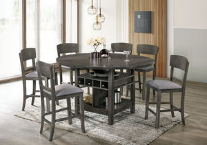 Stacie Counter HT. 5 or 7 Piece Dining Set in Grey