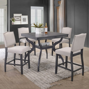 Grey 5pc Counter Height Dining Set