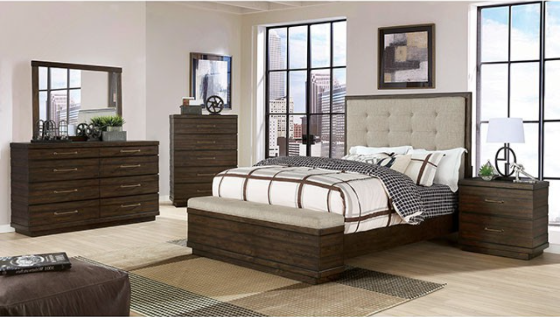 Maggie Dark Walnut Bedroom Collection