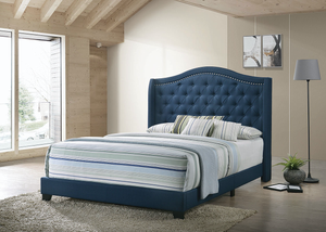 Sonoma Upholstered Bed (Blue)