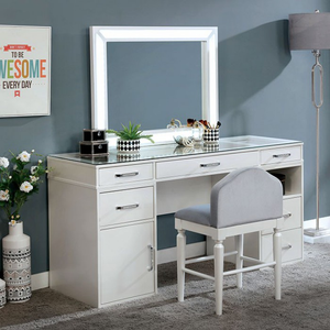 Vickie White Vanity Set