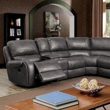 Load image into Gallery viewer, Jonanne Manual Sectional In Grey Leatherette