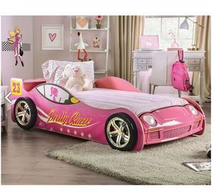 Velostra Pink Pretty Racer Car Bed with LED Lights