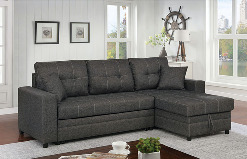 Vide Sleeper Sectional In Grey